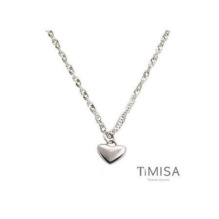 【TiMISA】鈦真心 純鈦項鍊(10E)