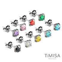 【TiMISA】純淨 純鈦耳針一對 (9色可選)