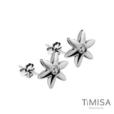 【TiMISA】花漾(M) 純鈦耳針一對 (3色可選)