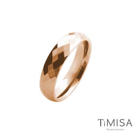 【TiMISA】格緻真愛-寬版(玫瑰金) 純鈦戒指