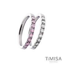 【TiMISA】蜜糖彩鑽(五色可選) 純鈦戒指一對