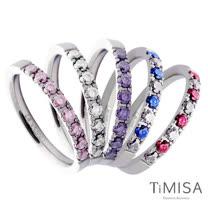 【TiMISA】蜜糖彩鑽 純鈦戒指(五色可選)