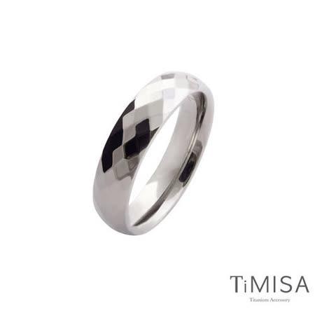 【TiMISA】格緻真愛-寬版(原色) 純鈦戒指