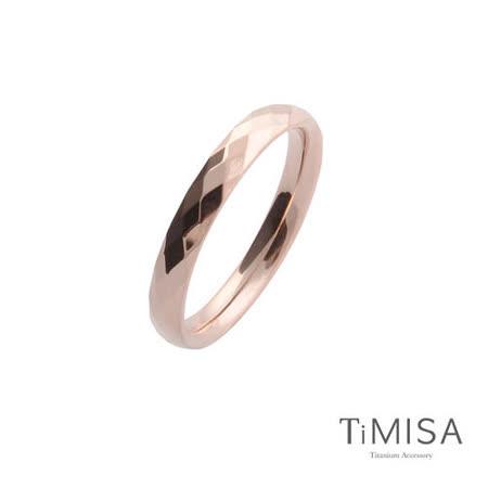 【TiMISA】格緻真愛-細版(兩色可選) 純鈦戒指