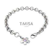【TiMISA】櫻花之戀(M) 純鈦手鍊(共三色)