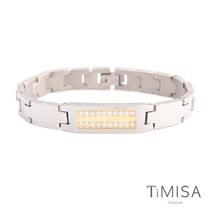 【TiMISA】永恆真愛-寬版-金 純鈦鍺手鍊