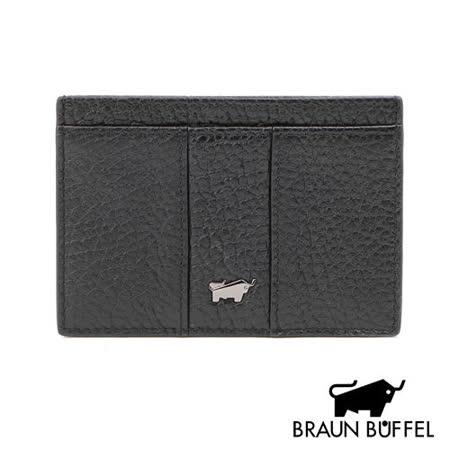BRAUN BUFFEL 那不勒斯系列單層卡夾(經典黑)BF167-328-BK