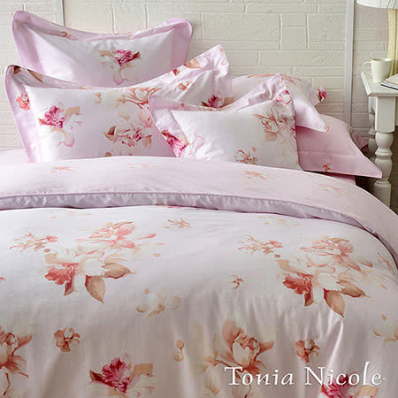 Tonia Nicole東妮寢飾紫語情迷100%精梳棉兩用被床包組(加大)