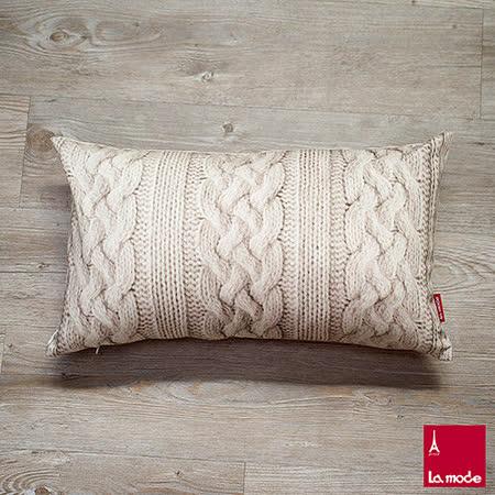 La Mode寢飾 針織印花長靠墊套(含枕心)