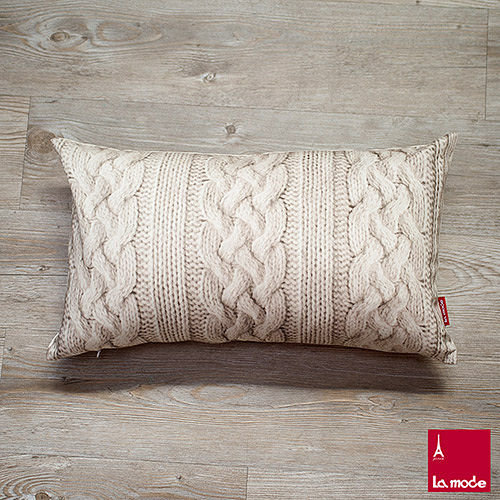 La Mode寢飾 針織印花長靠墊套^(含枕心^)