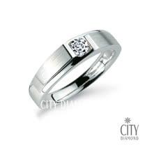 City Diamond『緣定古堡』19分鑽戒(男)