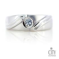 City Diamond『雪影之戀』11分男鑽戒