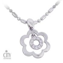 City Diamond『甜甜花圈』K金項鍊_ZP1679
