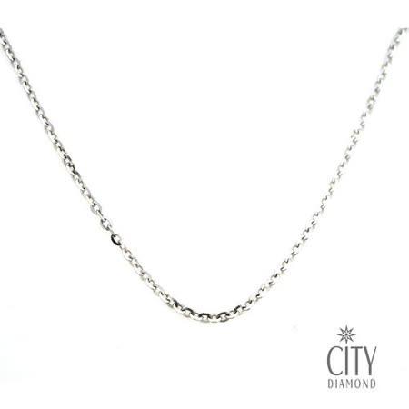 City Diamond 14K白K金項鍊(18吋)