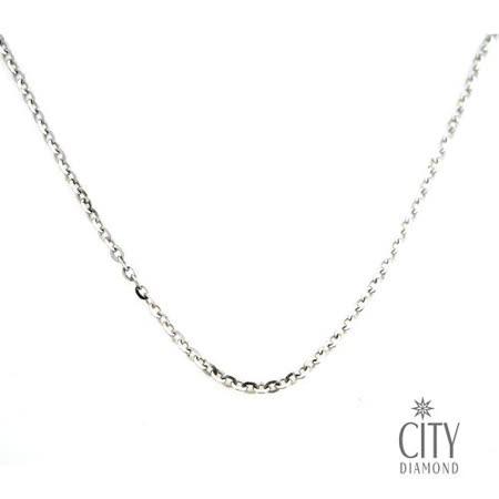 City Diamond 14K白K金項鍊(16吋)