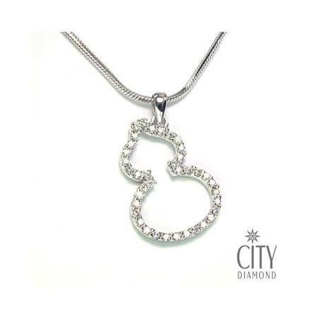 張曼玉款City Diamond『晶鑽葫蘆』K金項鍊