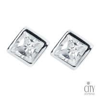 City Diamond Amor系列 K金耳環_ZE1055W