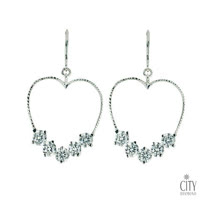 City Diamond Amor系列 K金耳環_ZE1320W