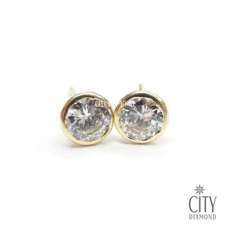 City Diamond Amor系列 K金耳環_577