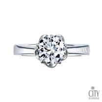 City Diamond『幸福花冠』30分F/VS1 鑽石戒指