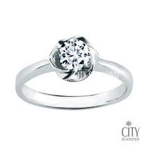 City Diamond『冬柏花語』50分F/VS1 鑽石戒指