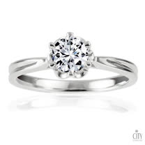 City Diamond『巴黎花都』50分鑽石戒指
