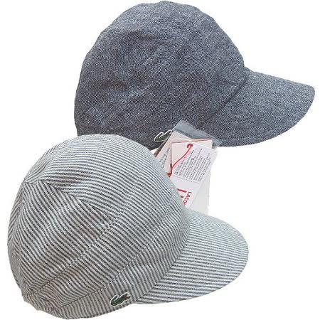 【波克貓哈日網】雙面UV棒球帽◇LACOSTE◇《牛仔藍+條紋》~日本製