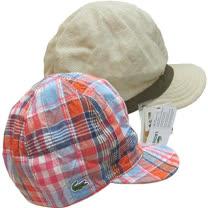 【波克貓哈日網】雙面UV棒球帽◇LACOSTE◇《優雅駝+紅藍格紋》~日本製