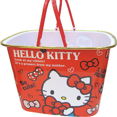 【波克貓哈日網】置物收納提籃◇Hello kitty 凱蒂貓◇《 27 x 20 x 20cm 》