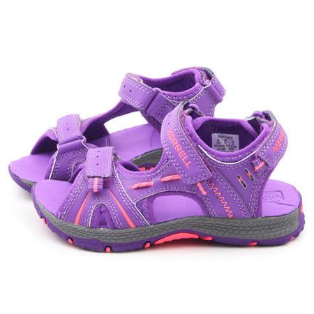 Merrell 中大童 戶外多功能涼鞋ML53430-紫
