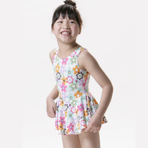 【SAIN SOU】女童連身裙泳裝附泳三重 愛 買帽A88212