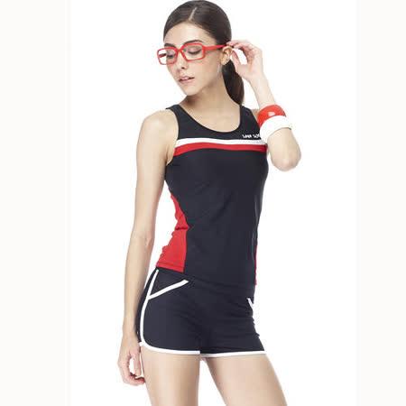 【SAIN SOU】大女兩件式泳裝附泳帽A92227