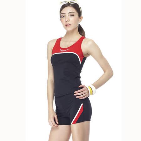 【SAIN SOU】大女兩件式泳裝附泳帽A92256