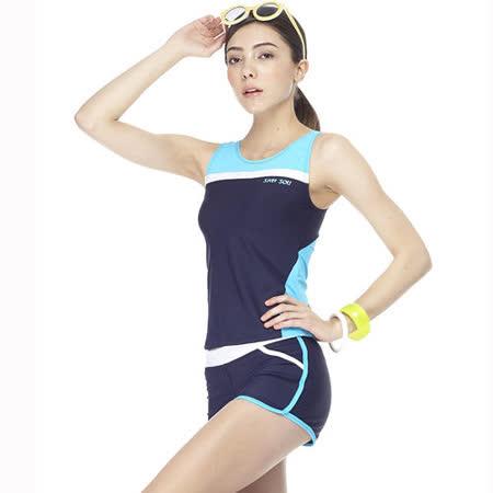 【SAIN SOU】大女兩件式泳裝附泳帽A92262