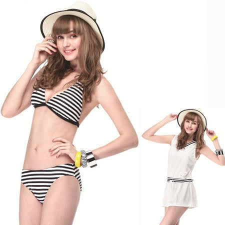【SAIN SOU】大女比基尼三件式泳裝附泳帽A93235
