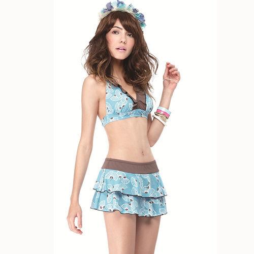 【SAIN SOU】大女比基尼三件式泳裝附泳帽A愛 買 三重 店93417