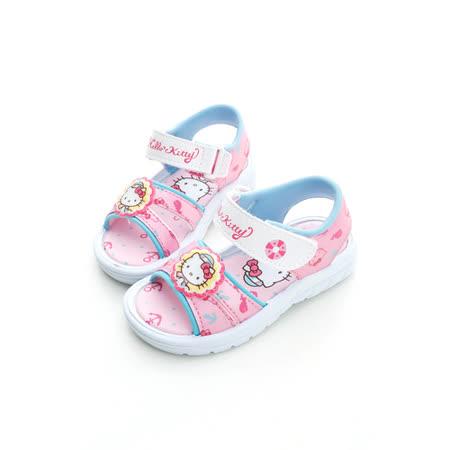 【Hello Kitty】  可愛海洋水手系列輕量黏扣帶休閒涼鞋 814626-粉