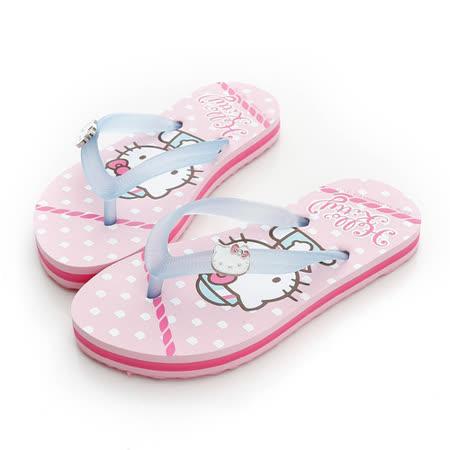 【Hello Kitty】  可愛海洋水手系列極輕量休閒海灘拖鞋 814660-粉