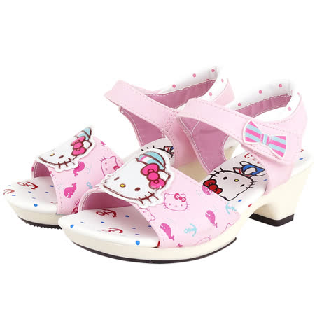 【Hello Kitty】  可愛海洋水手系列輕量公主高跟涼鞋 814668-粉