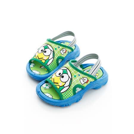【KEROPPI大眼蛙】 元氣足球款輕量舒適拖鞋(16-18無後拉帶) 814675-綠