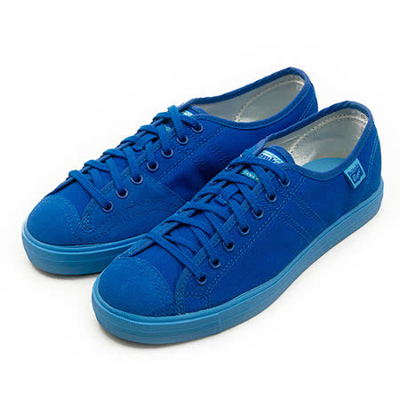 【女】Onitsuka Tiger  經典休閒帆布鞋 BADMINTON 68 藍 D505N-4444