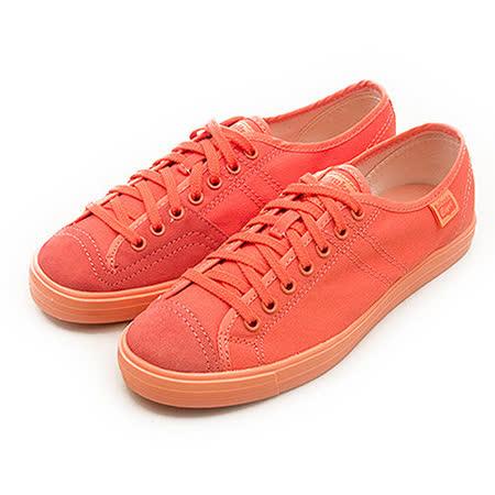 【女】Onitsuka Tiger  經典休閒帆布鞋 BADMINTON 68 粉橘 D505N-6565