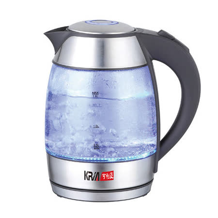 【KRIA 可利亞】1.8L玻璃炫光快煮壼 KR-1735
