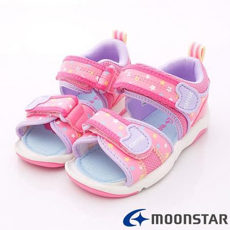日本Carrot機能童鞋-閃耀星星涼鞋款-CRC20824粉(15cm-21cm)