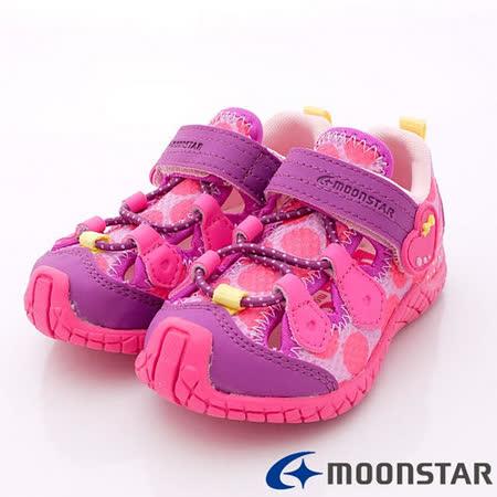 日本Carrot機能童鞋-輕量透氣款-CRC21174粉桃(15cm-20cm)