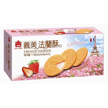 義美草莓法蘭酥132g