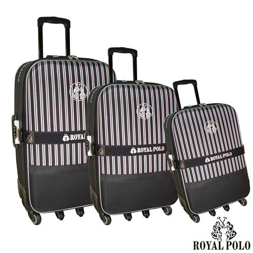 【ROYAL POLO皇家保羅】三件景 美愛 買 營業 時間組-尊爵條紋旅行拉桿箱