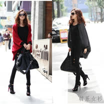 【韓系女衫】修飾身型披肩式針織開衫外套-輕薄透氣款 (共三色)