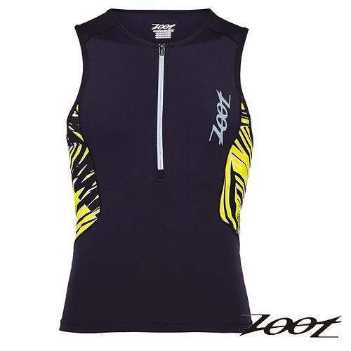 2015 ZOOT 碳纖肌能鐵人上衣  黑/棕梠黃   男  三鐵 Z1506022