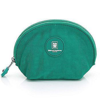 【金安德森】樂活美學 半月貝殼款手握附件包-湖水綠